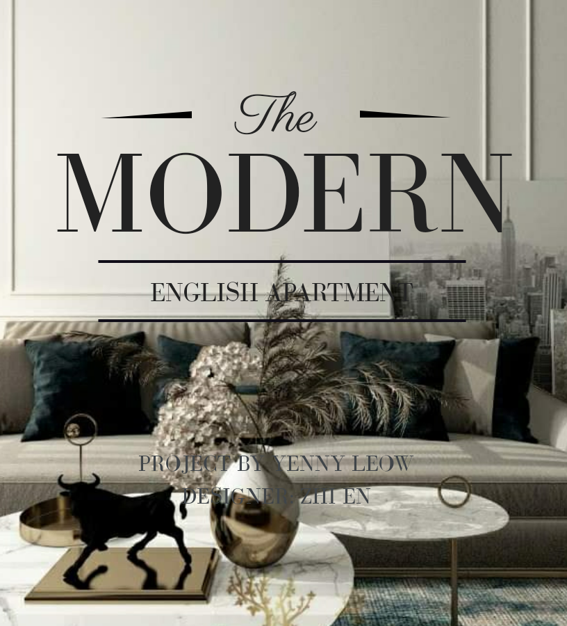 MODERN ENGLISH APARTMENT INTERIOR